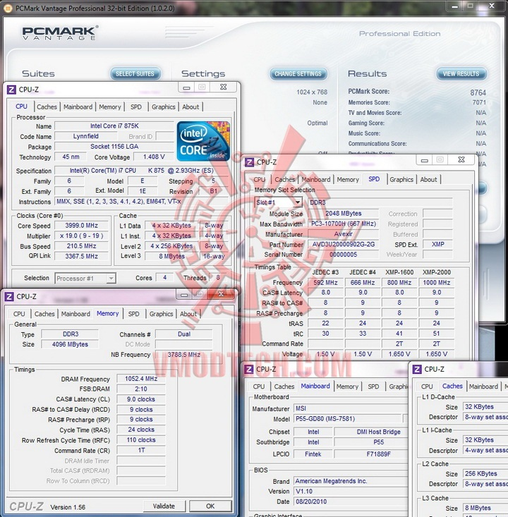 pcmark vantae 1 AVEXIR Blitz Gaming Series DDR3 2,000 MHz
