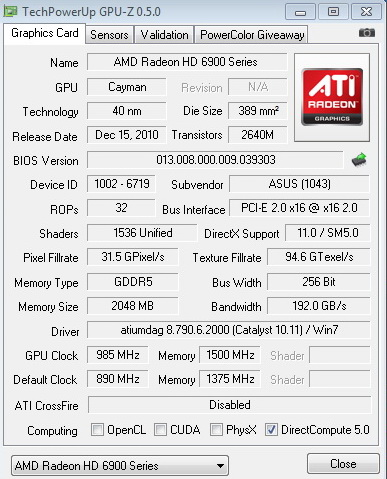 1 GIGABYTE RADEON HD6950 @ HD6970 BIOS MODIFY