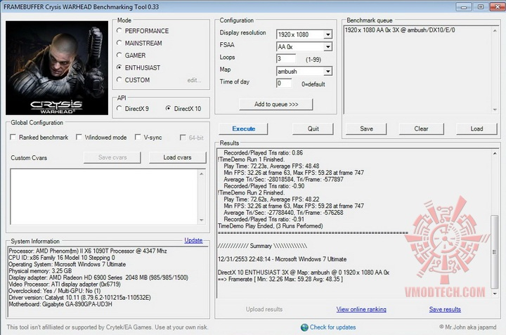 crysis2 985 1500 GIGABYTE RADEON HD6950 @ HD6970 BIOS MODIFY