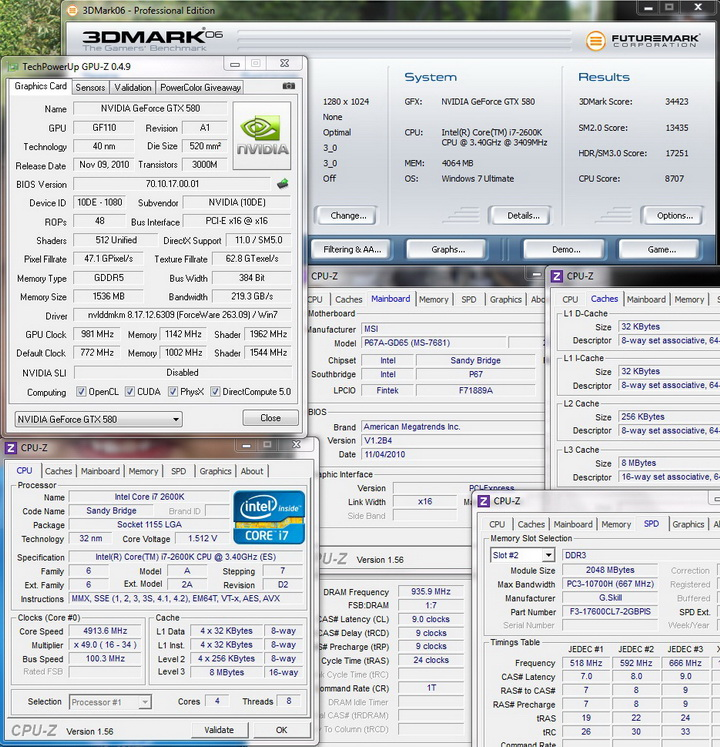 06 Sandy Bridge Core i7 2600K on MSI P67A GD65
