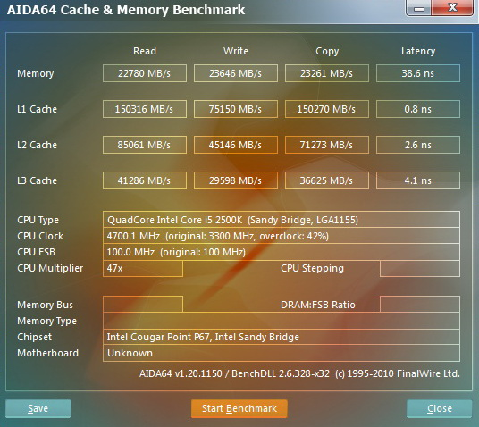 14 INTEL Core i5 2500k on msi P67A GD55