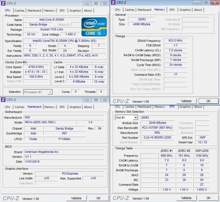 cpuz 1 720x662 INTEL Core i5 2500k on msi P67A GD55