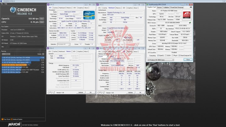 cinebench r11 720x405 GIGABYTE P67A UD4 Motherboard Review