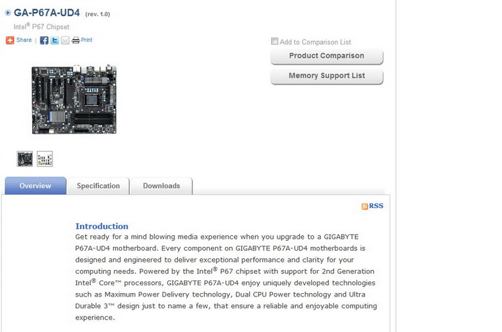 1 GIGABYTE P67A UD4 Motherboard Review