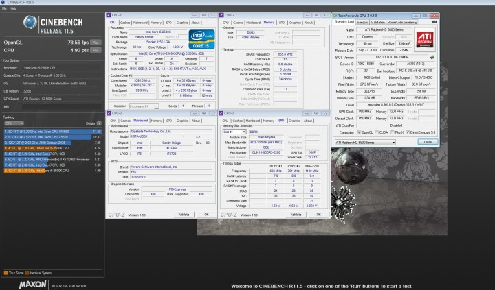 cinebench 11 720x423 GIGABYTE H67A UD3H Motherboard Review