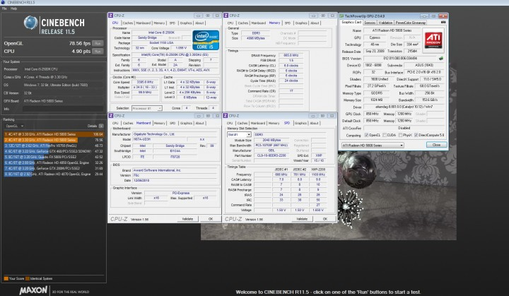 cinebench 11a 720x419 GIGABYTE H67A UD3H Motherboard Review