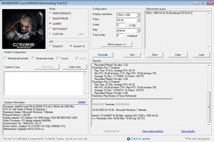 crysis2 720x478 GIGABYTE H67A UD3H Motherboard Review