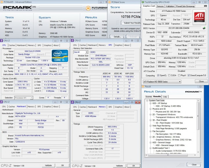 pcmark05 720x580 GIGABYTE H67A UD3H Motherboard Review