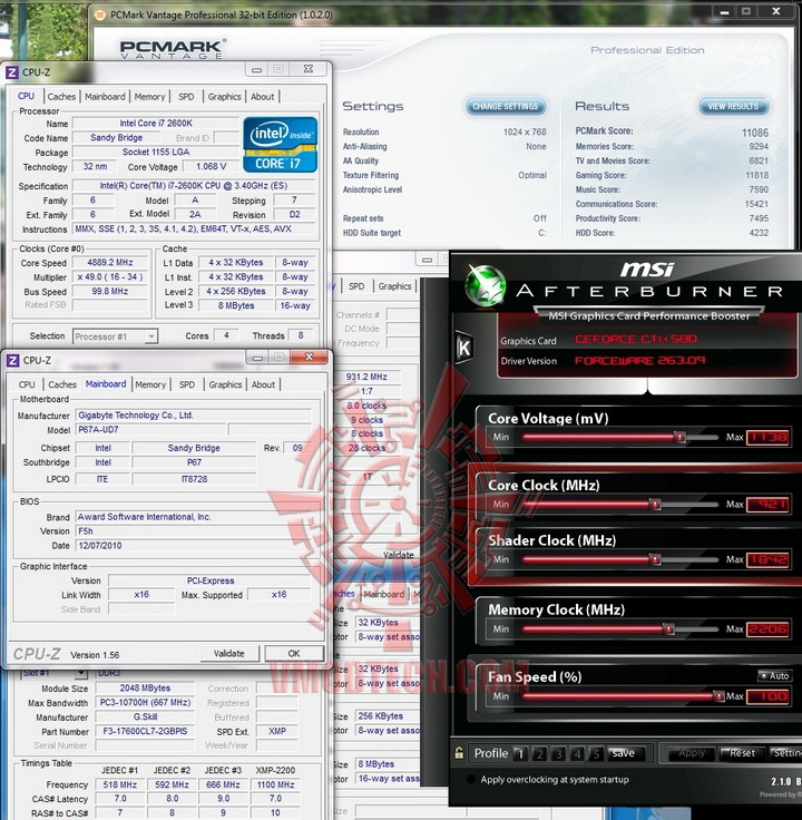 pcmarkvantage oc GIGABYTE P67A UD7 Motherboard Review