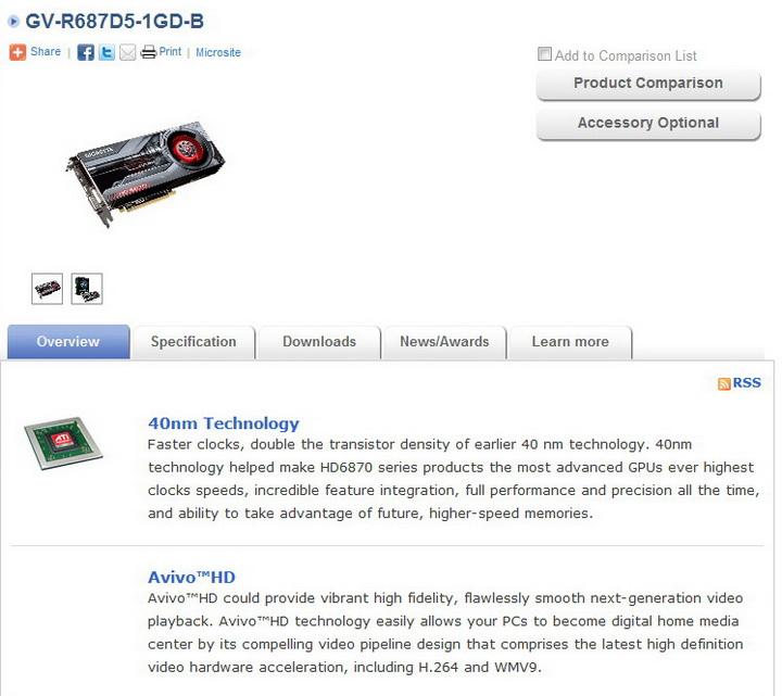 1 GIGABYTE Radeon HD6870 1GB DDR5 Review