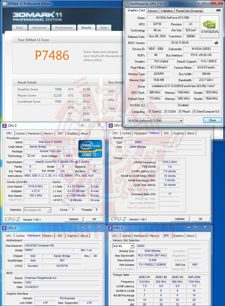 11 5116 ASUS P8P67 Motherboard Review