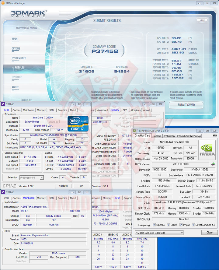 07p5116 ASUS P8P67 Motherboard Review