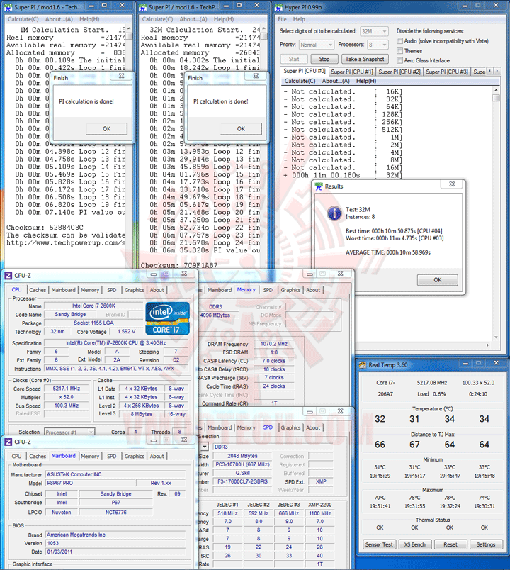5217hpi 1 Core i7 2600K @ 5,217MHz Rock Stable with ASUS P8P67 PRO