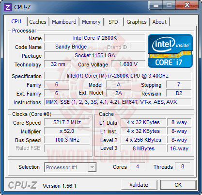 c1 Core i7 2600K @ 5,217MHz Rock Stable with ASUS P8P67 PRO