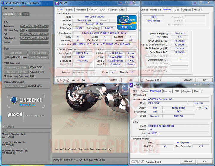 c10 Core i7 2600K @ 5,217MHz Rock Stable with ASUS P8P67 PRO