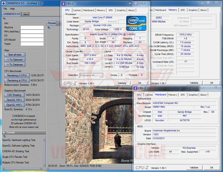 c95 Core i7 2600K @ 5,217MHz Rock Stable with ASUS P8P67 PRO