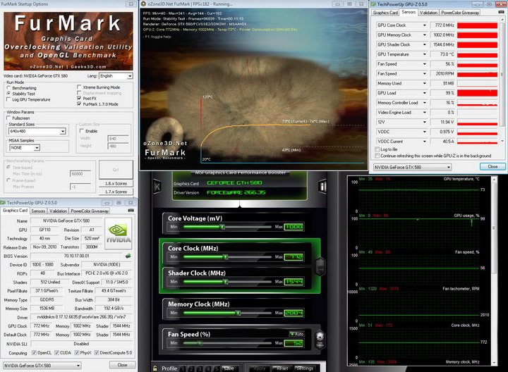 furmark1 Inno3D Geforce GTX580 1536MB DDR5 Review