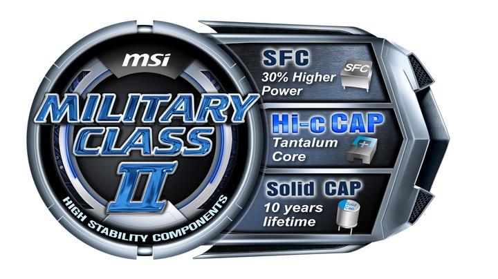 military class ii The Introduction to MSI Military Class II