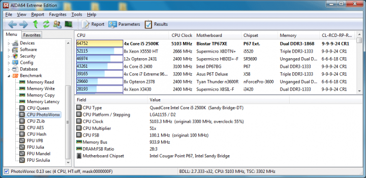 51x100 147v pll1912v ddr3 934clbyspdeverst cpuphotoworxx 720x352 Biostar TP67XE Extreme Edition : Review