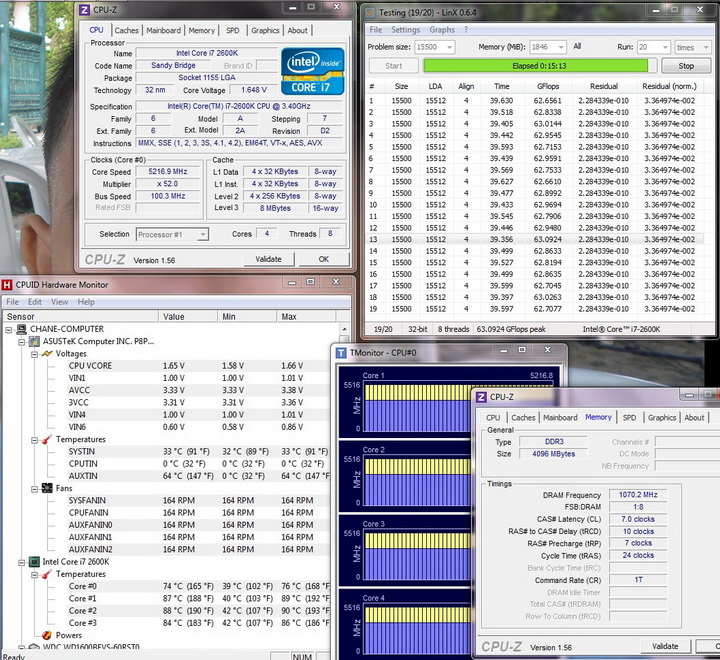 linx running 52 1 Gigabyte Nvidia GTX 560 Ti SUPEROVERCLOCK The New Generation of Nvidia