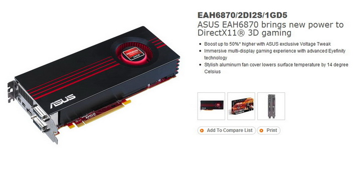 1 ASUS Radeon HD6870 1GB DDR5 Review