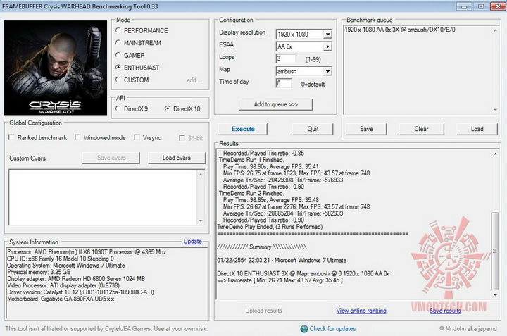 crysis2 ASUS Radeon HD6870 1GB DDR5 Review