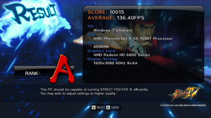 streetfighteriv benchmark 2011 01 21 22 05 20 41 ASUS Radeon HD6870 1GB DDR5 Review