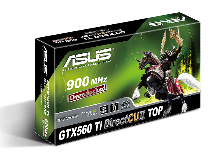 asus gtx560ti directcuii box NVIDIA GeForce GTX 560 Ti 1GB GDDR5 Debut Review