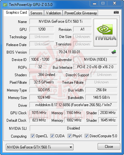 gz ov NVIDIA GeForce GTX 560 Ti 1GB GDDR5 Debut Review