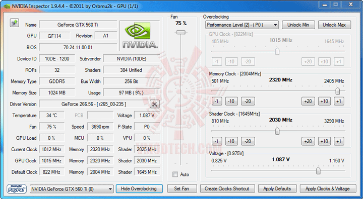 ni ov NVIDIA GeForce GTX 560 Ti 1GB GDDR5 Debut Review