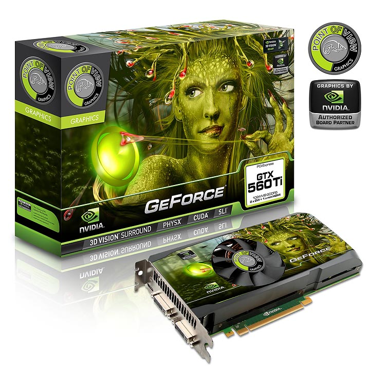 point of view vga 560 a1ti b NVIDIA GeForce GTX 560 Ti 1GB GDDR5 Debut Review