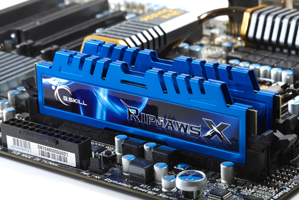 blue G.SKILL RipjawsX The New Series for Sandy Bridge!