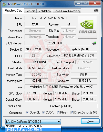 gz6 NVIDIA GeForce GTX 560 Ti 1GB GDDR5 SLI Review