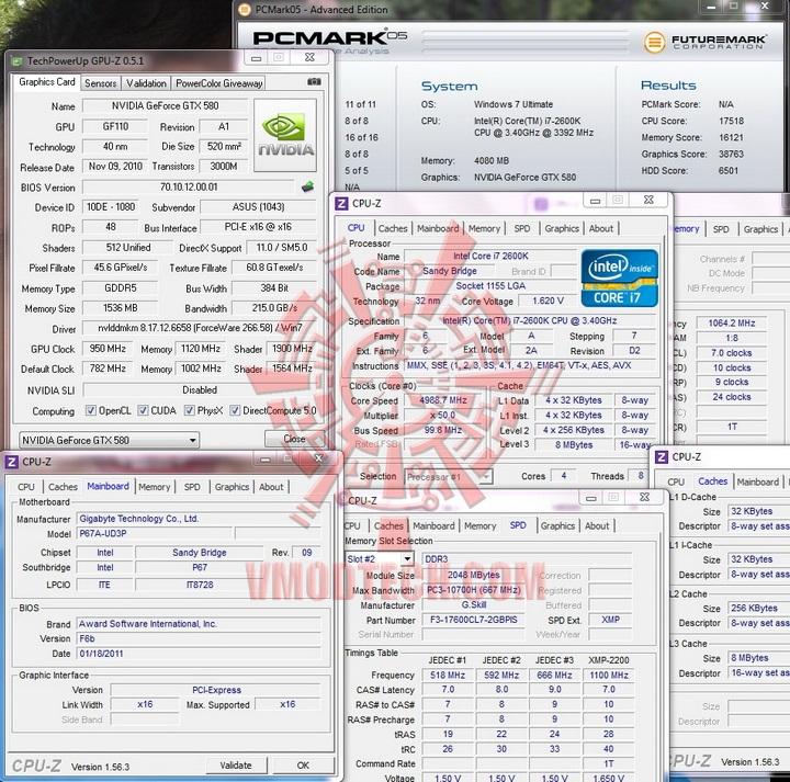 pcmark mark 05 GIGABYTE P67A UD3P Motherboard Review