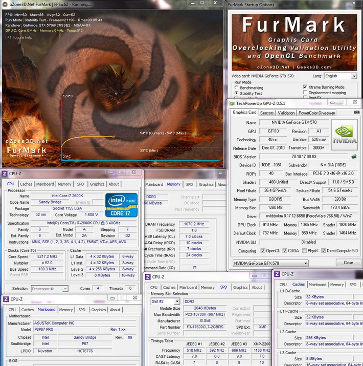 furmark Galaxy Nvidia GeForce GTX 570 Review