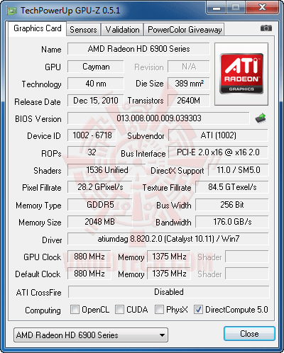 gz1 HIS AMD Radeon HD 6970 2GB GDDR5 Review