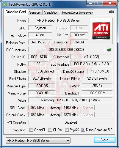 gz2 HIS AMD Radeon HD 6970 2GB GDDR5 Review