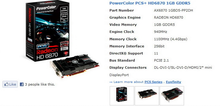 11 PowerColor Radeon HD6870 PCS+ 1GB DDR5 Review
