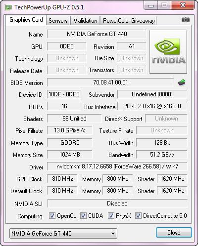 gpuz1 Palit GeForce GT 440 1024MB GDDR5
