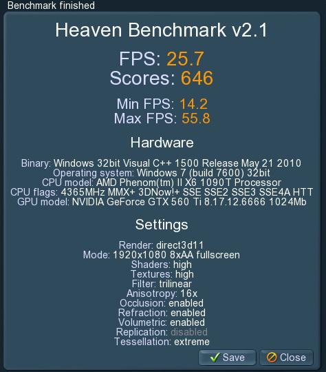 unigine 2011 02 09 20 27 52 10 PaLiT GeForce GTX 560 Ti Sonic 1024MB GDDR5