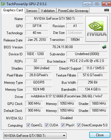 900 PaLiT GeForce GTX 560 Ti Sonic 1024MB GDDR5