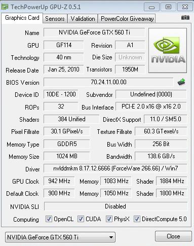 942 PaLiT GeForce GTX 560 Ti Sonic 1024MB GDDR5