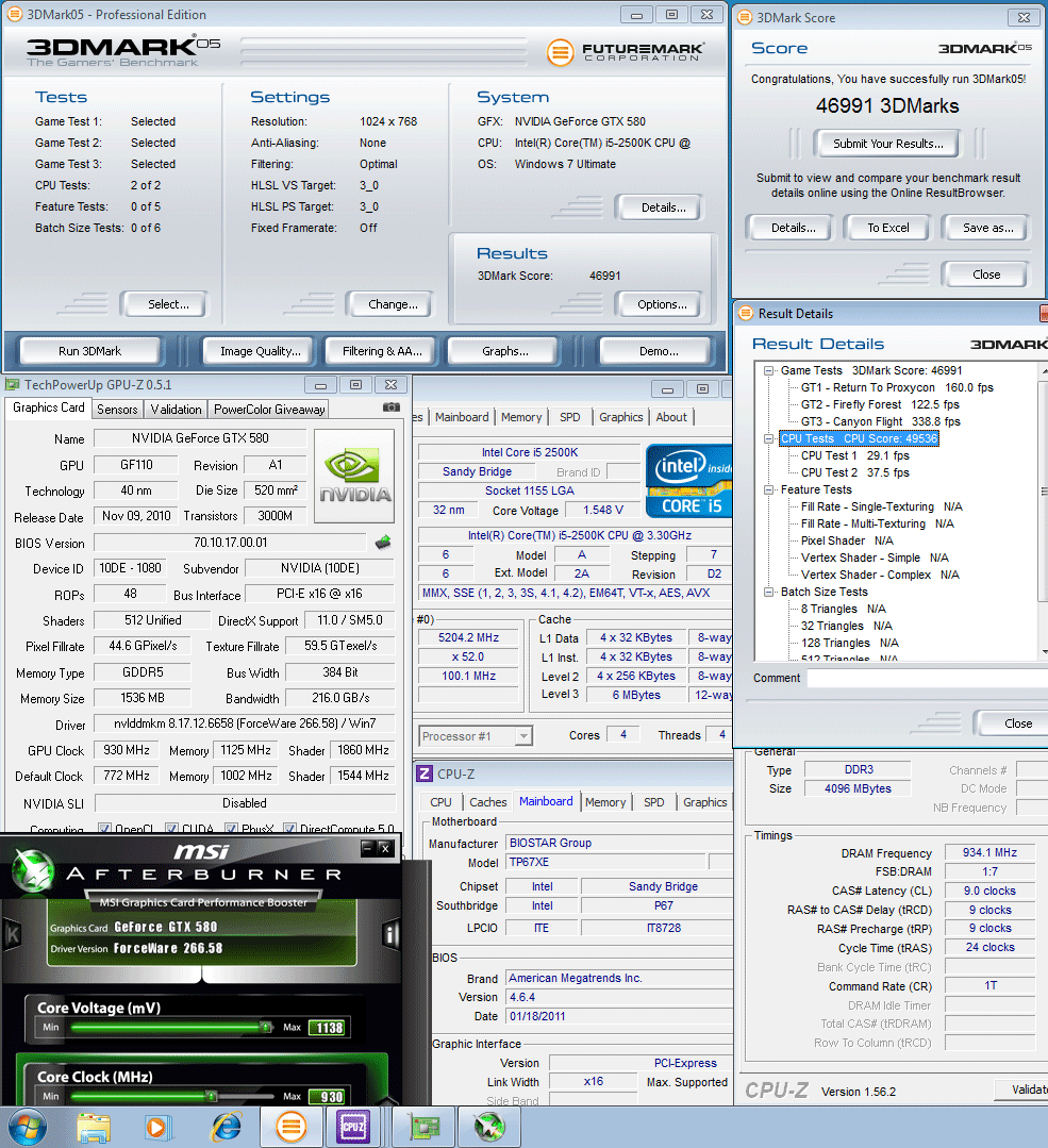 930 1125 1138mv 52 3d2k5 46991 SPARKLE GeForce GTX580 : Review