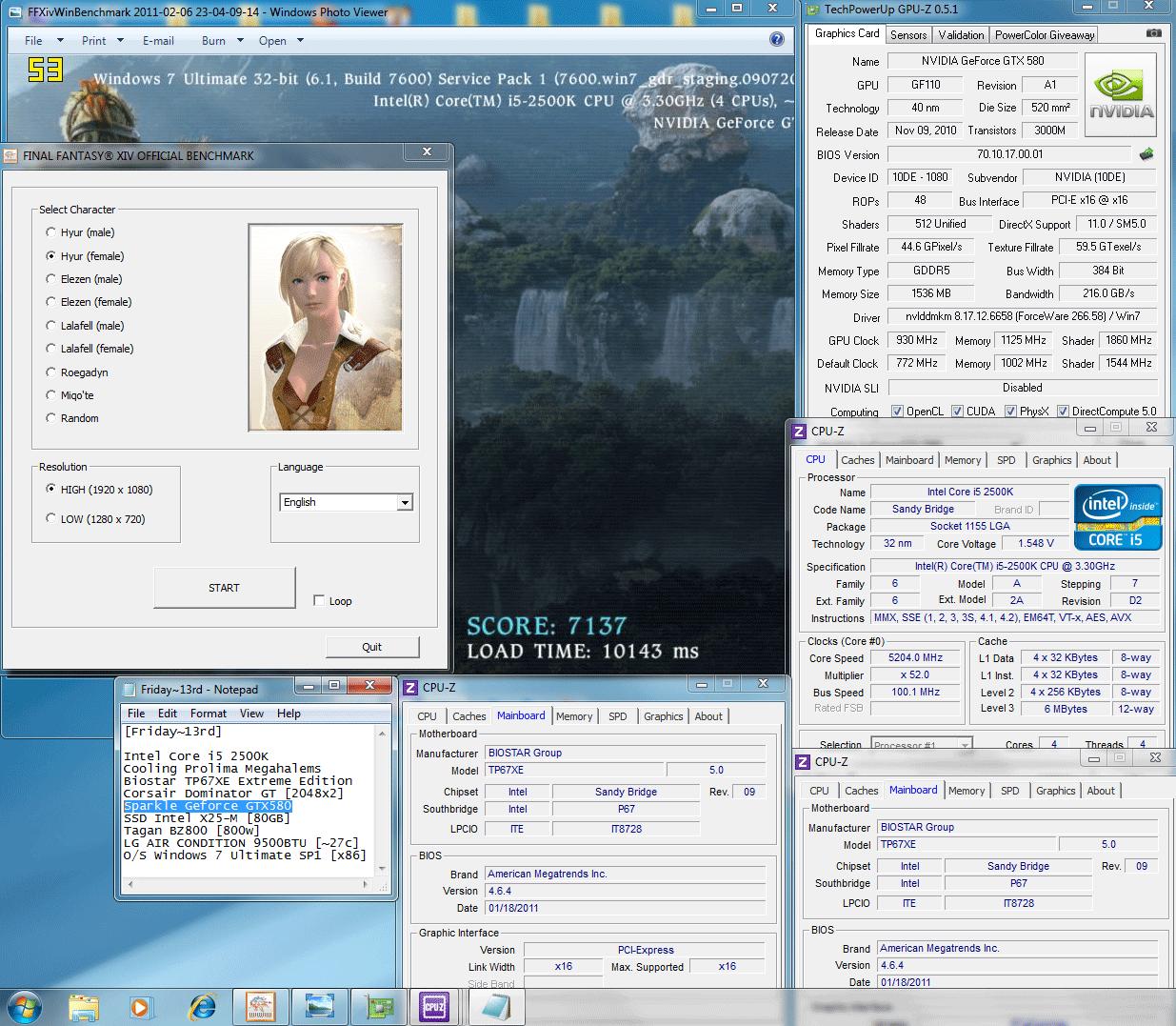 930 1125 1150mv 52 dx9 ffxiv 7137 SPARKLE GeForce GTX580 : Review