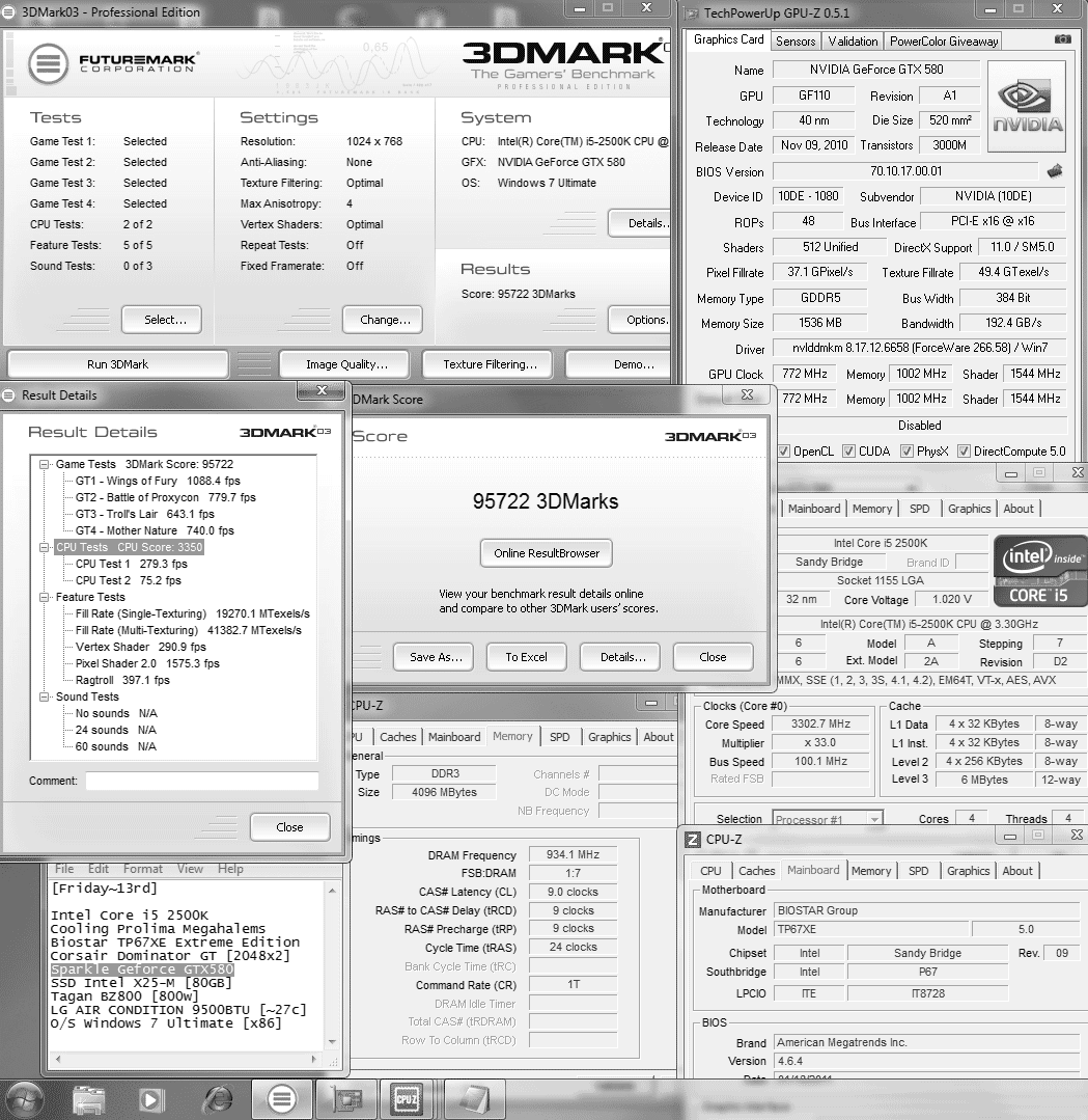 default 3d2k3 95722 SPARKLE GeForce GTX580 : Review