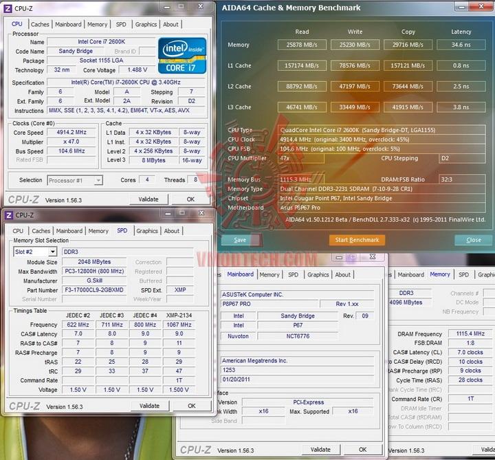 aida chche and mem G.Skill RipjawsX F3 17000CL9D 4GBXMD