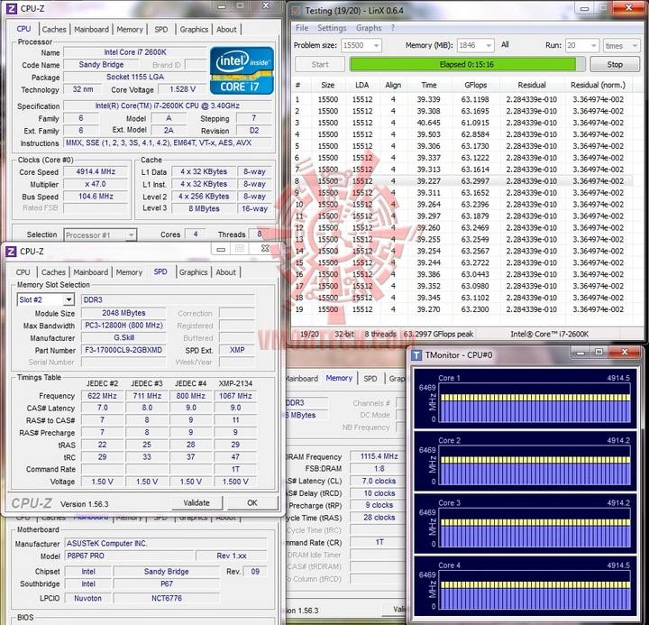 linx run G.Skill RipjawsX F3 17000CL9D 4GBXMD