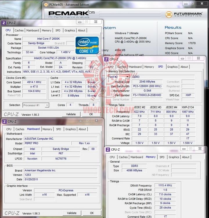pcmark 05 G.Skill RipjawsX F3 17000CL9D 4GBXMD