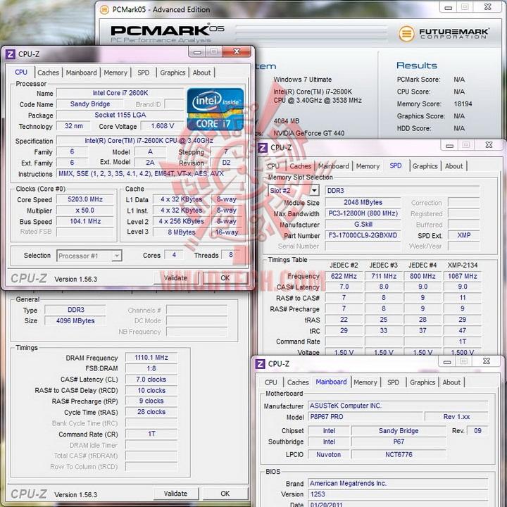 pcmark 052 G.Skill RipjawsX F3 17000CL9D 4GBXMD