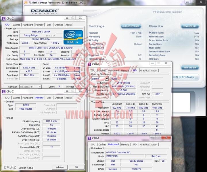 pcmark vantage2 G.Skill RipjawsX F3 17000CL9D 4GBXMD